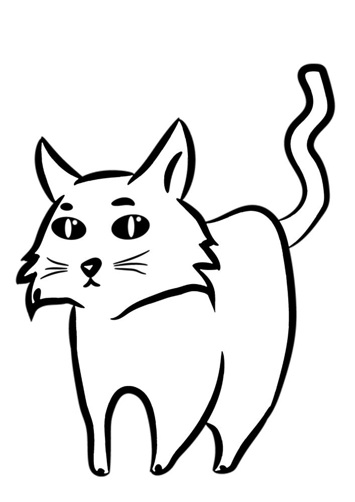 große reihe von katzen - ausdrucken oder kostenlos