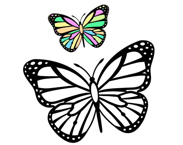 Раскраски бабочек. Самая большая коллекция 130 штук - распечатать или скачать бесплатно.