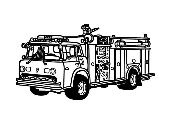 Раскраски Пожарная машина. 120 изображений - самая большая коллекция. Распечатать или скачать бесплатно.