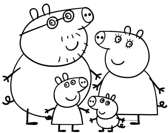 Раскраски Свинка Пеппа - Распечатать или скачать бесплатно