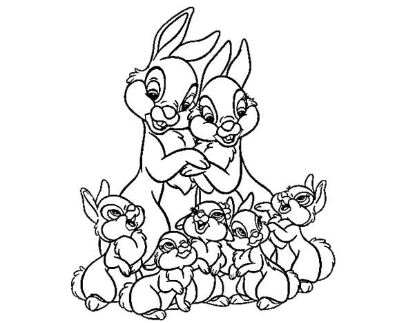 Раскраски Зайцы и кролики - Распечатать или скачать бесплатно