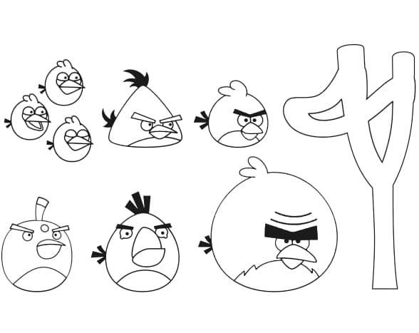 Раскраски Энгри Бёрдз (Angry Birds) - Распечатать или скачать бесплатно