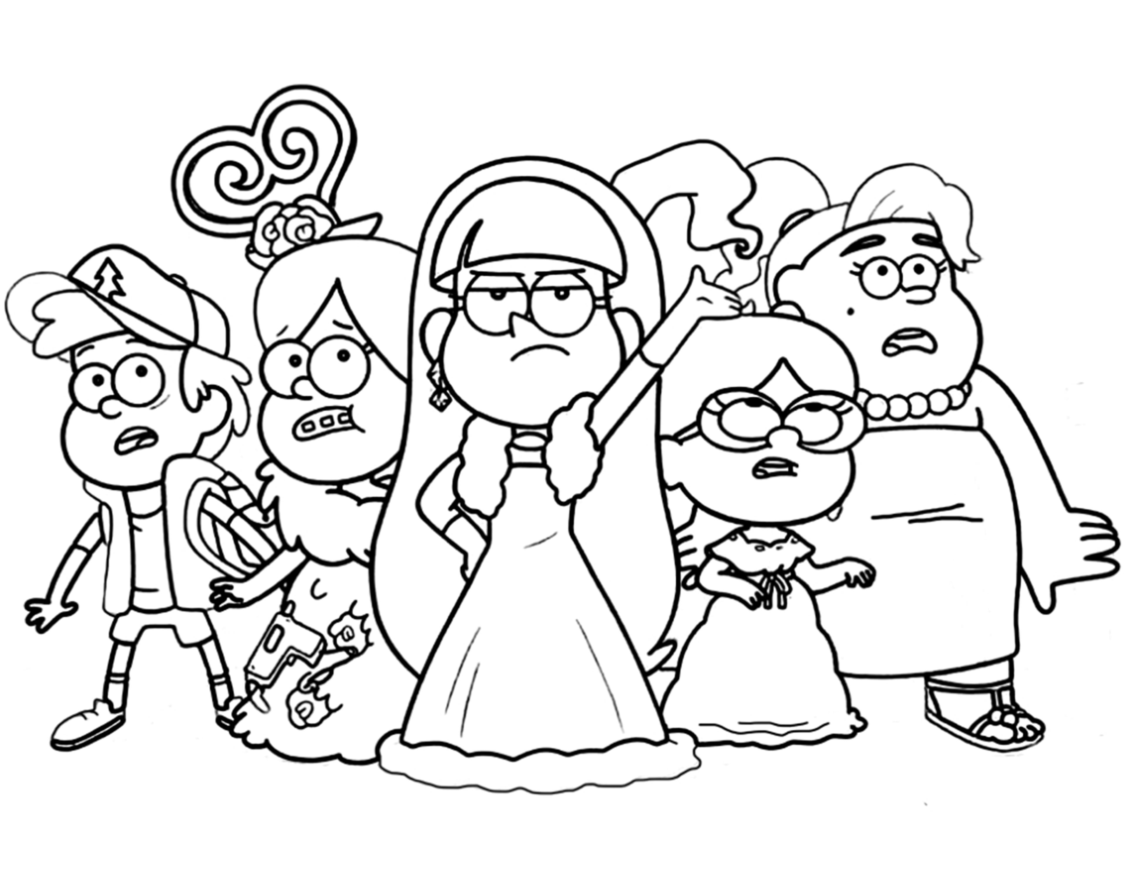 Gravity Falls Malvorlagen - Drucken oder kostenlos herunterladen