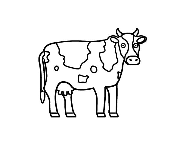Lehmä värityskirja - 110 kuvia - suurin kokoelma. Tulosta tai lataa ilmaiseksi.