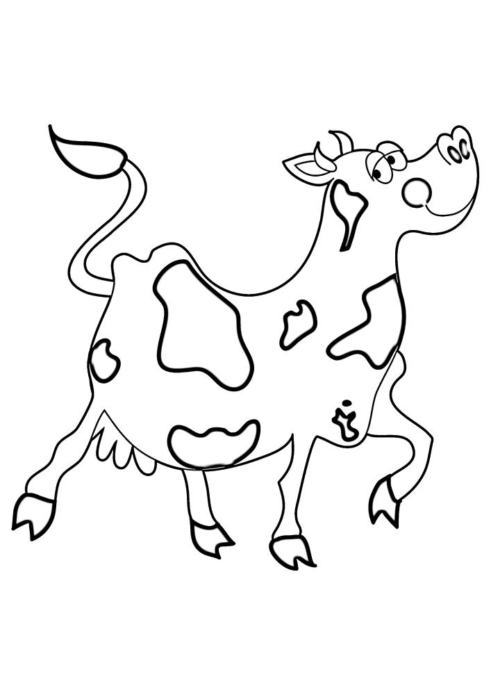 Гордо идущая корова
