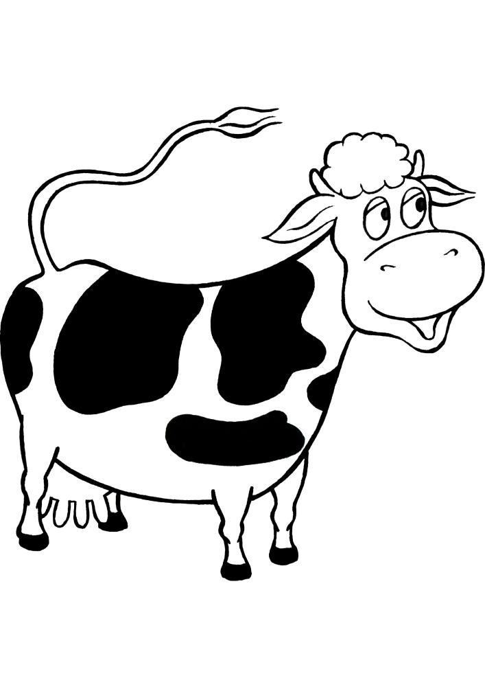 Корова из мультфильмов