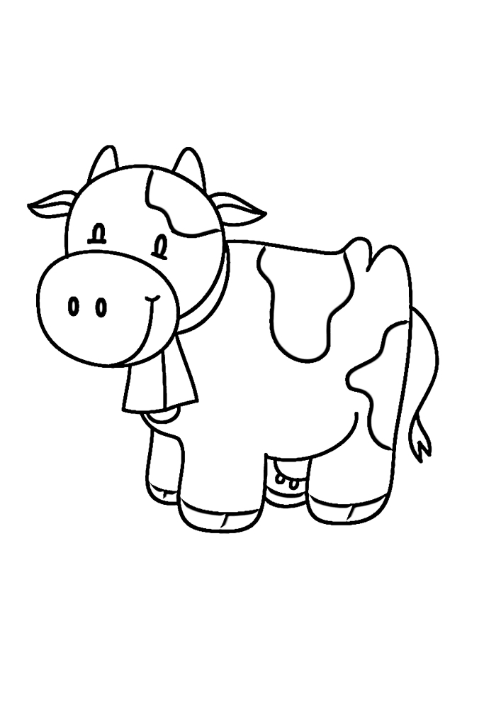 Детская раскраска коровы