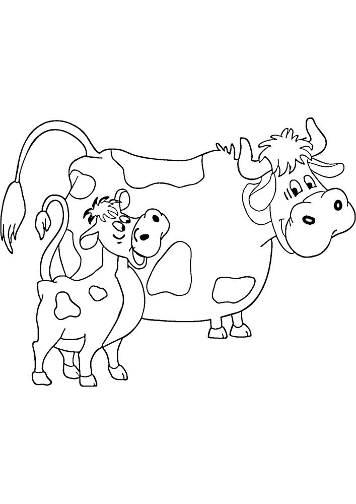 Детская раскраска животных