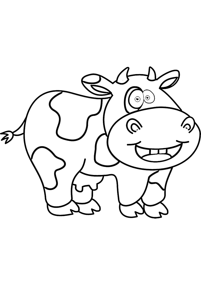 Маленькая весёлая корова