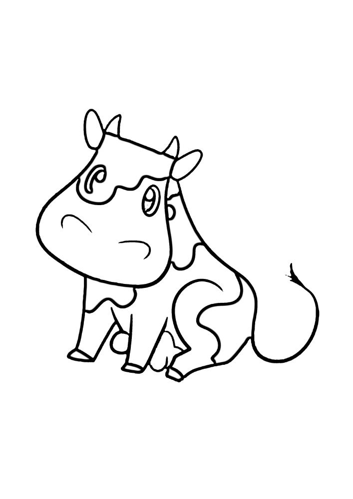 Сидящая корова