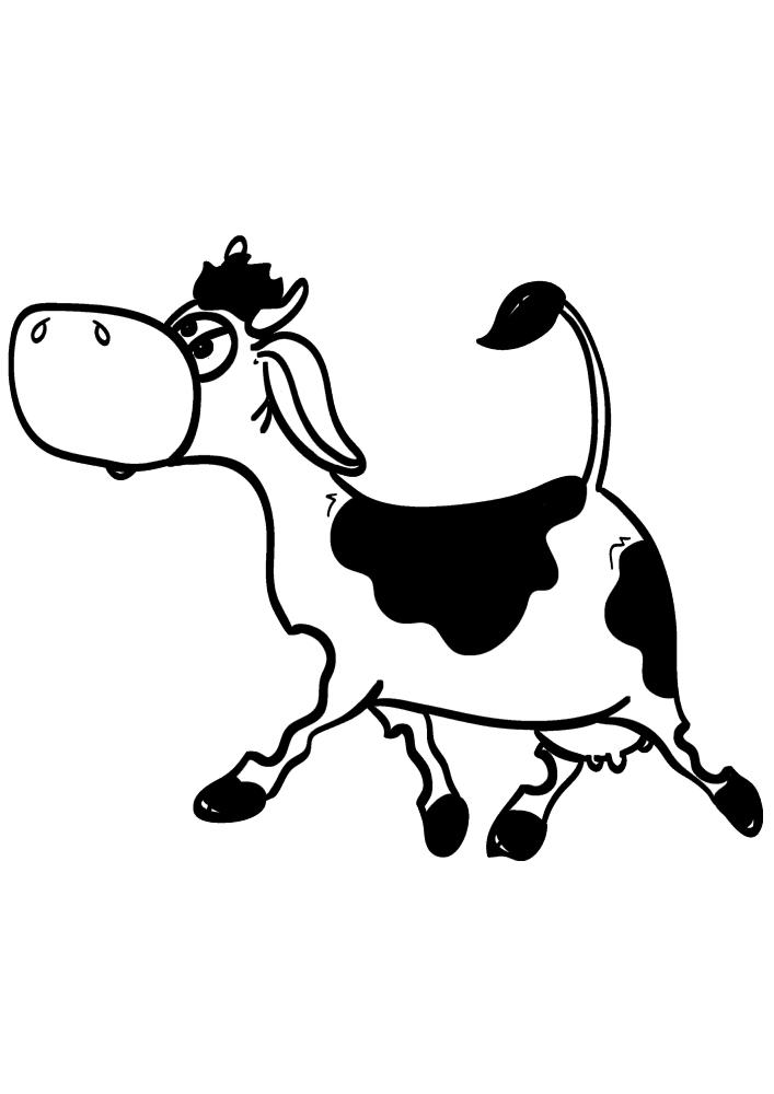 Идущая корова