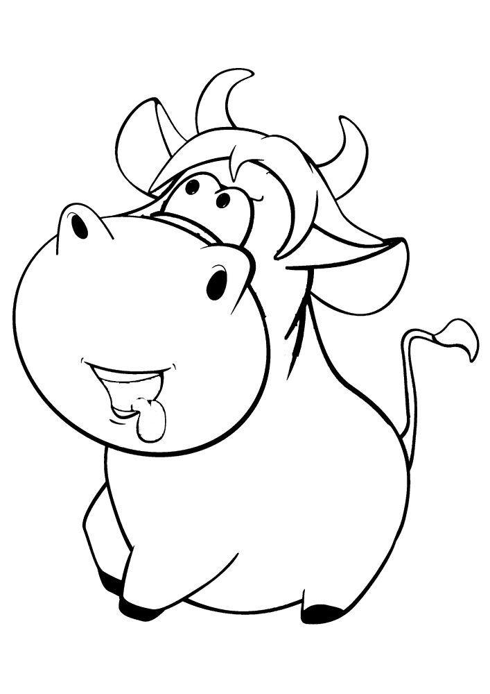Маленькая толстая корова