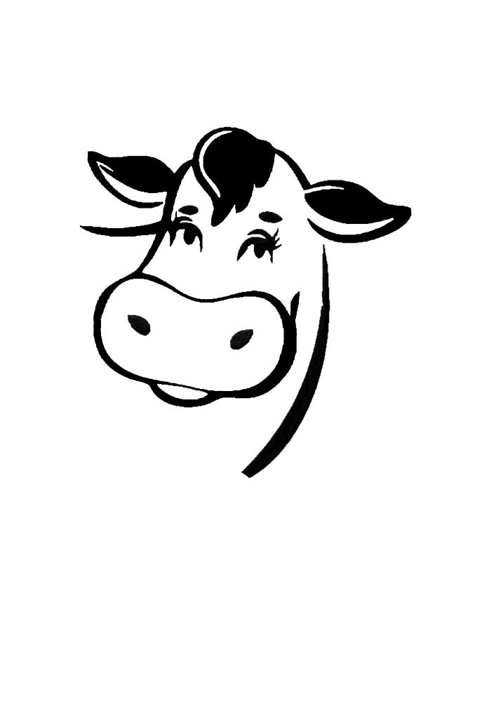 Мордочка домашнего животного - коровы