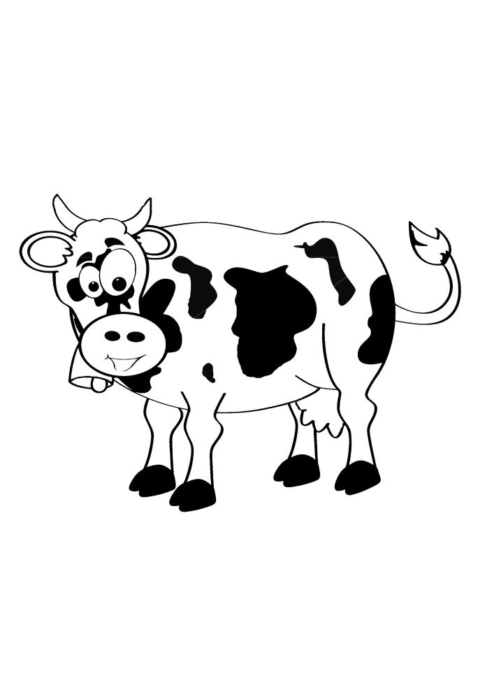 Удивлённая корова
