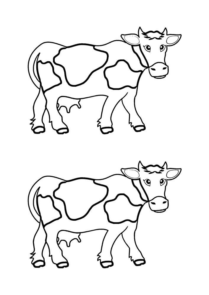 Два изображения в одной картинке - их можно разукрасить в разные цвета