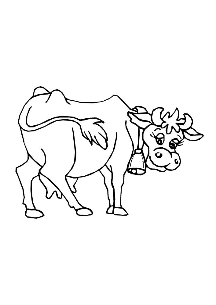 Корова с ресничками - милая картинка