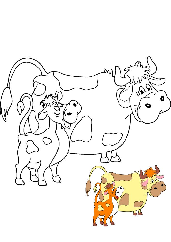 Корова и телёнок