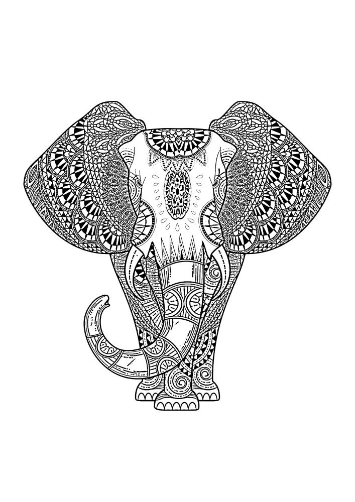 Детализированная раскраска гиганта