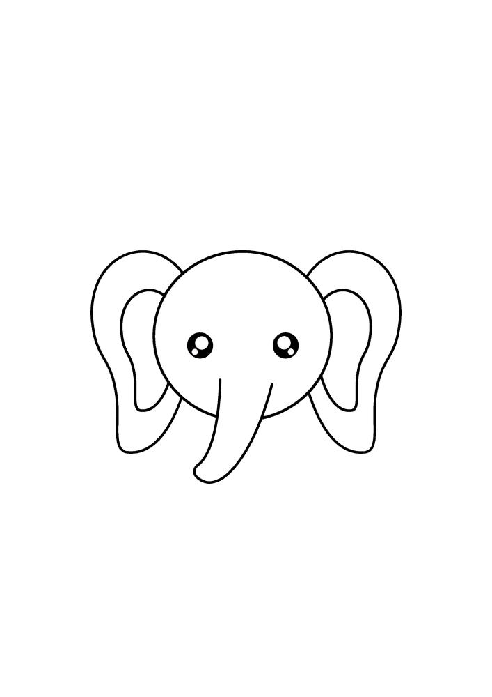 Маленькая мордочка слона