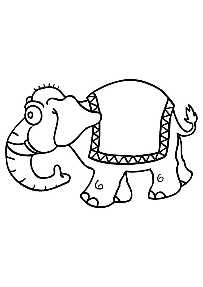 Слон, который возит людей на спине