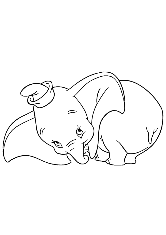 Стесняющийся слонёнок