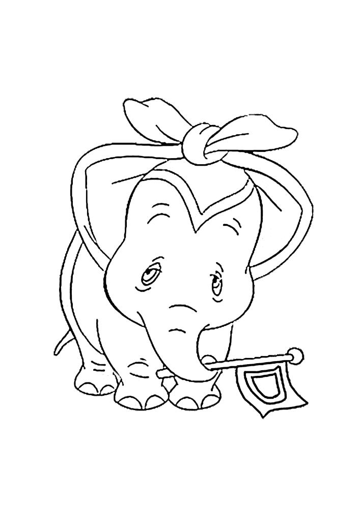 Грустный слонёнок