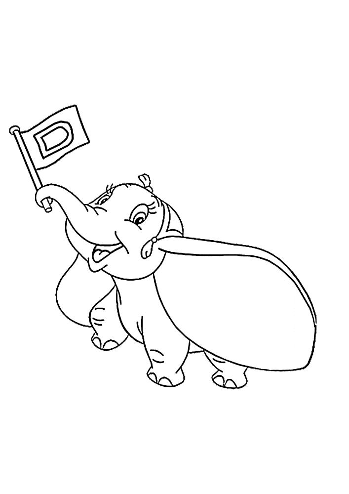 Летающий слонёнок из мультфильма