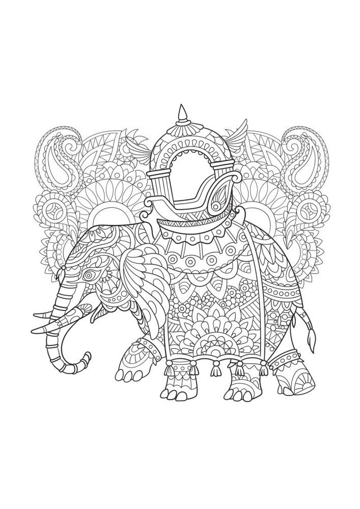 Антистресс - раскраска слона