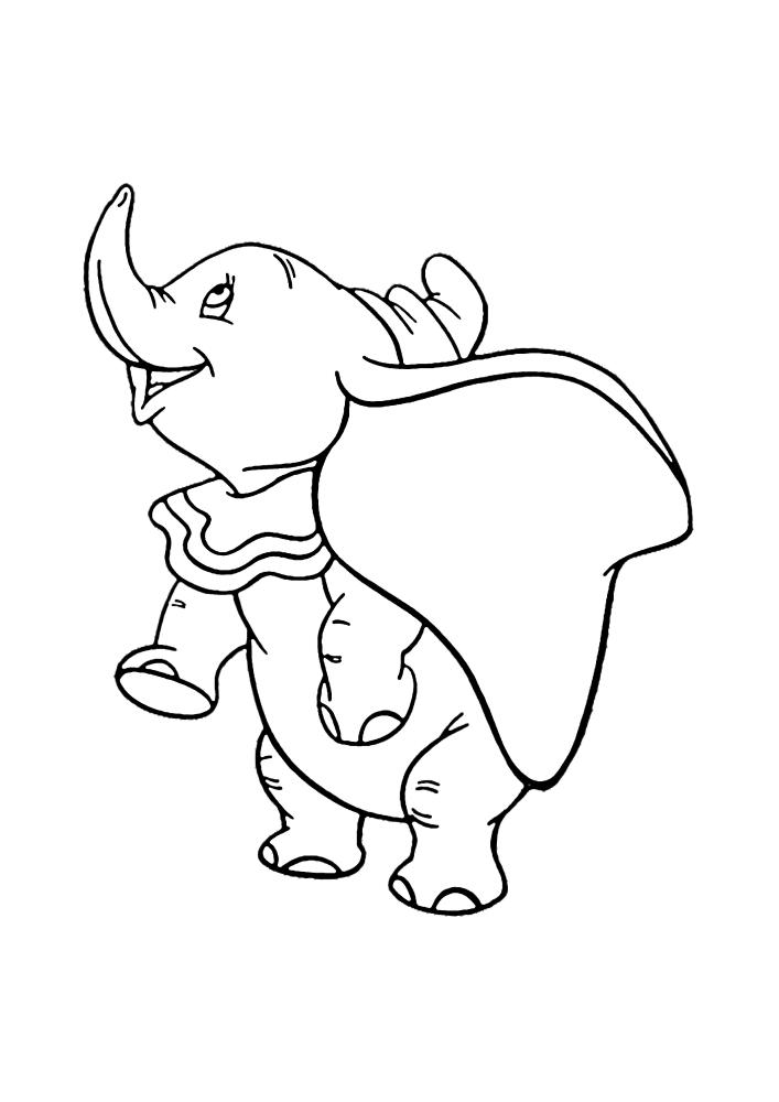 Весёлый и добрый слонёнок