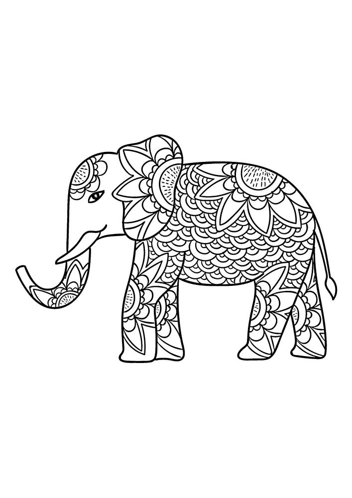 Детализированный слон