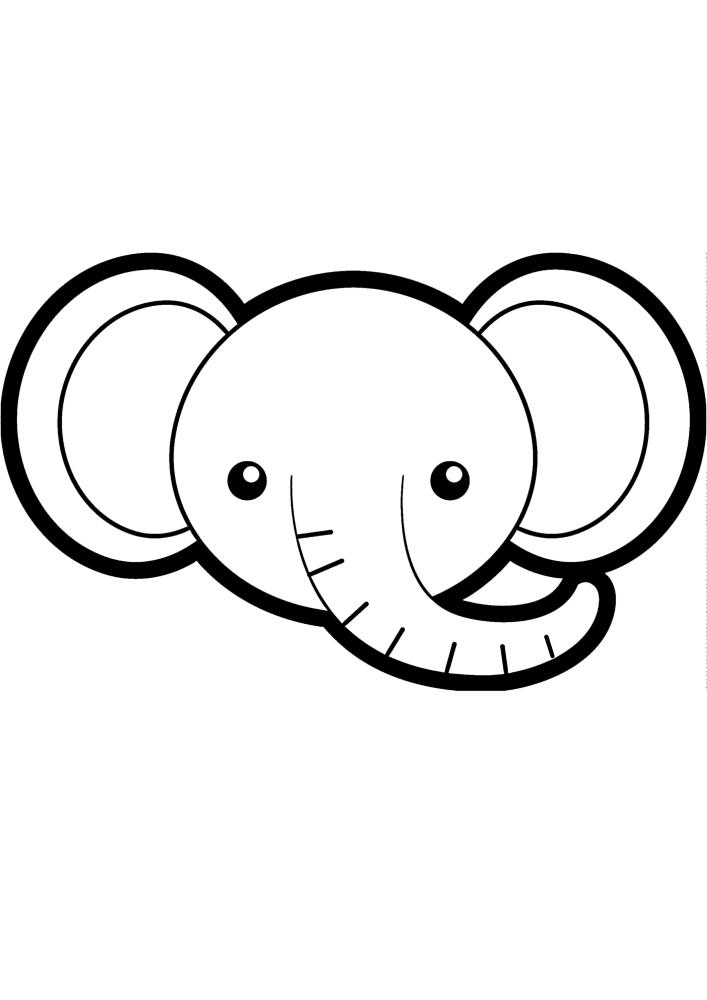 Милое лицо слона