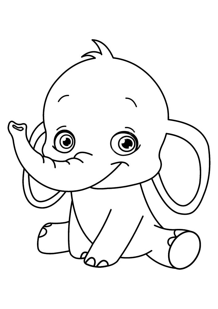 Маленький слон присел отдохнуть