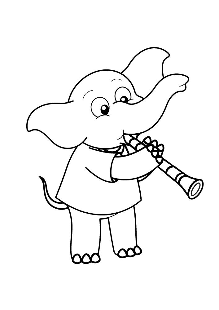 Слон играет на флейте