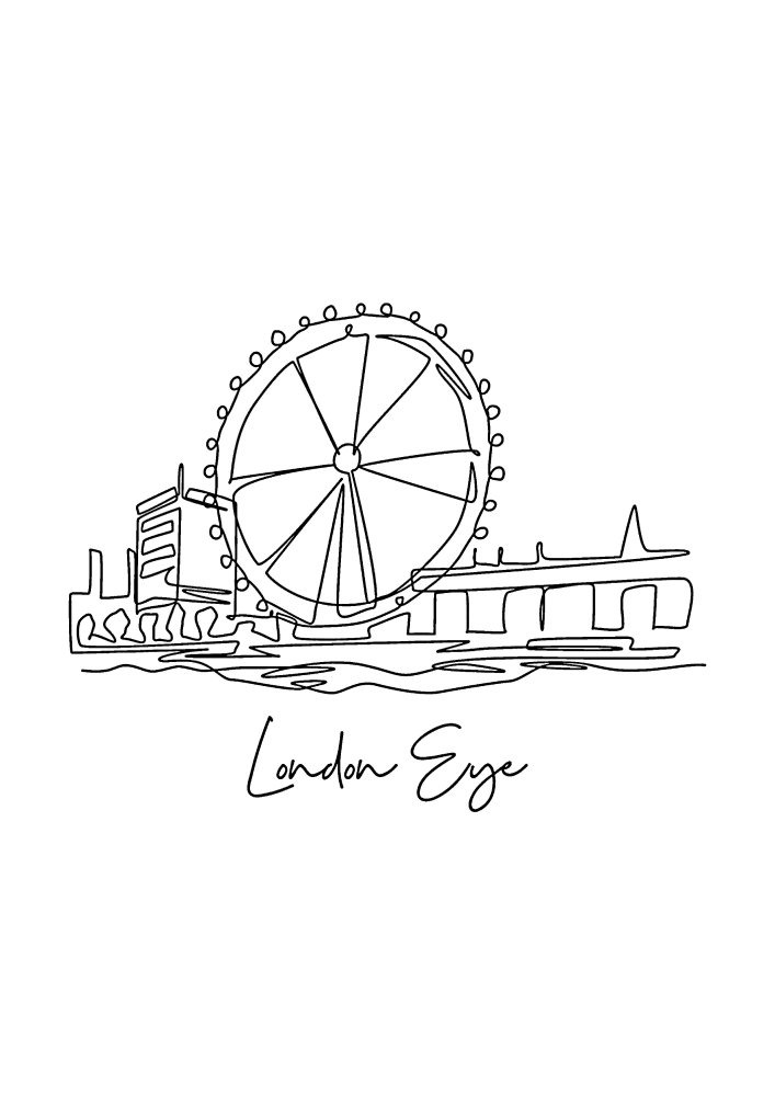 Лондонский глаз - колесо обозрения