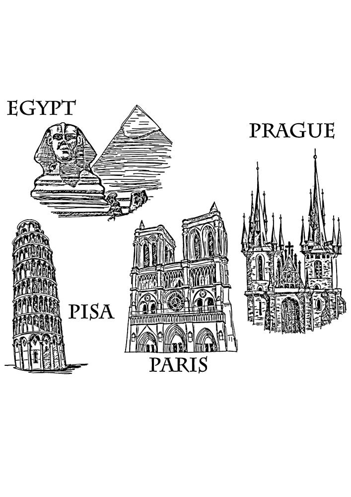 Пиза, Египет, Париж и Прага