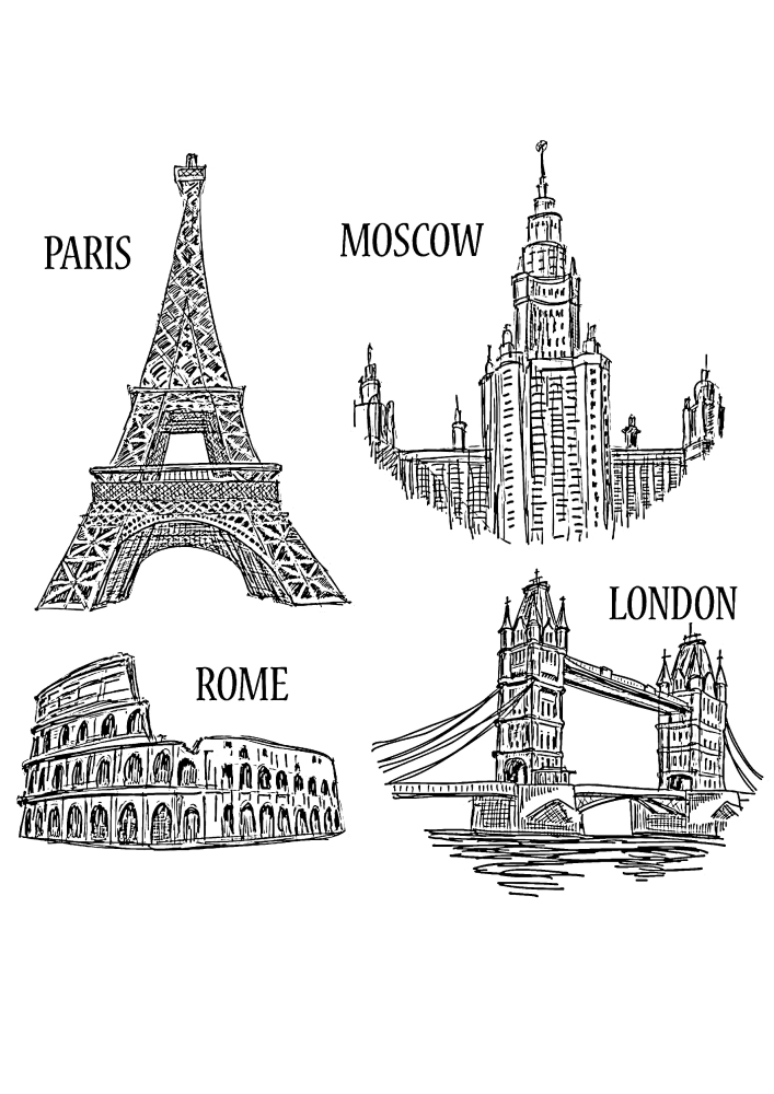 Париж, Москва, Рим и Лондон
