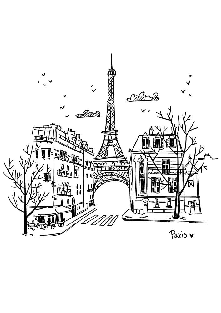 Улицы Парижа, с которых видна Эйфелева башня