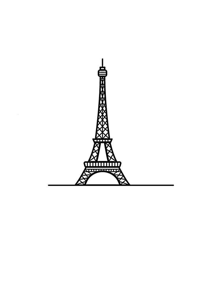 Маленький значок Эйфелевой башни