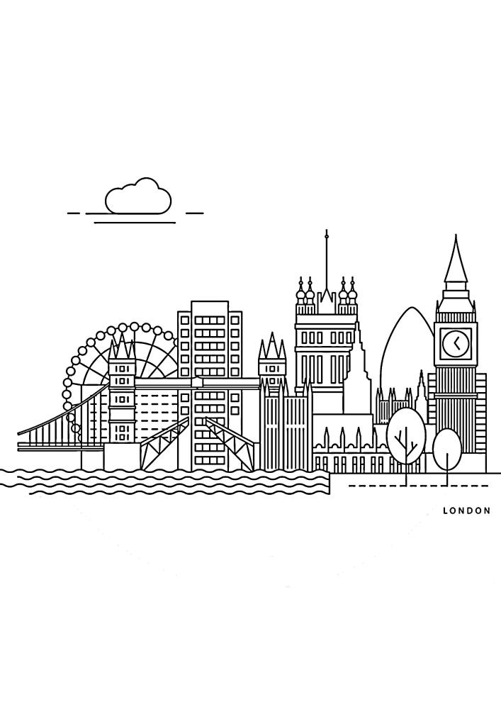 Лондон - вид сбоку