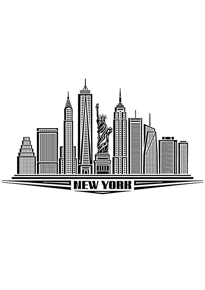 Нью-Йорк - раскраска