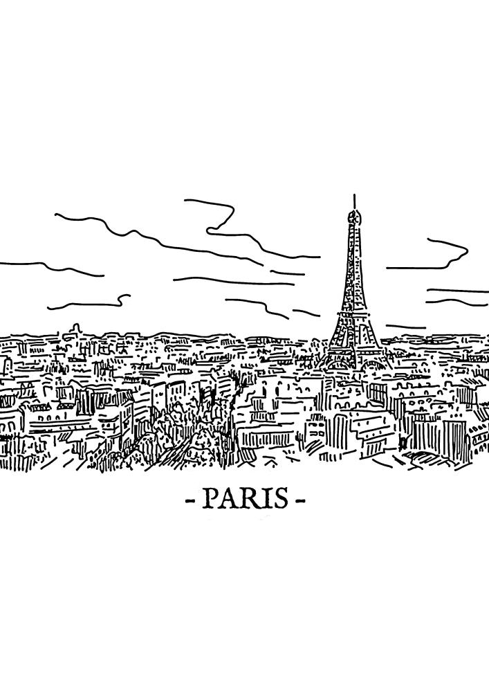 Париж - вид с высоты