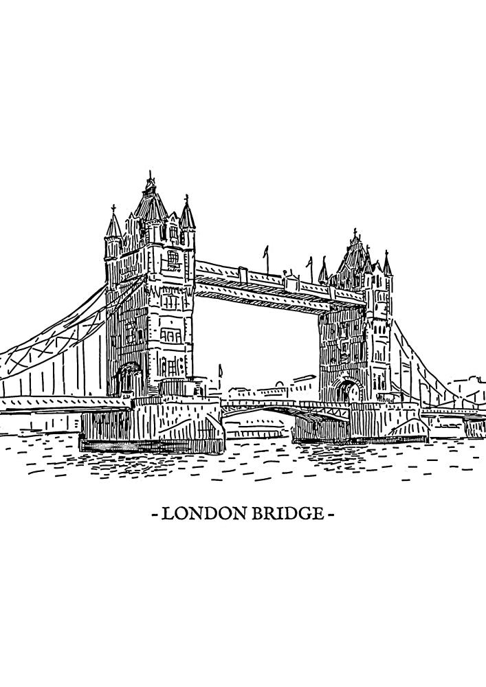 Лондонский мост - раскраска