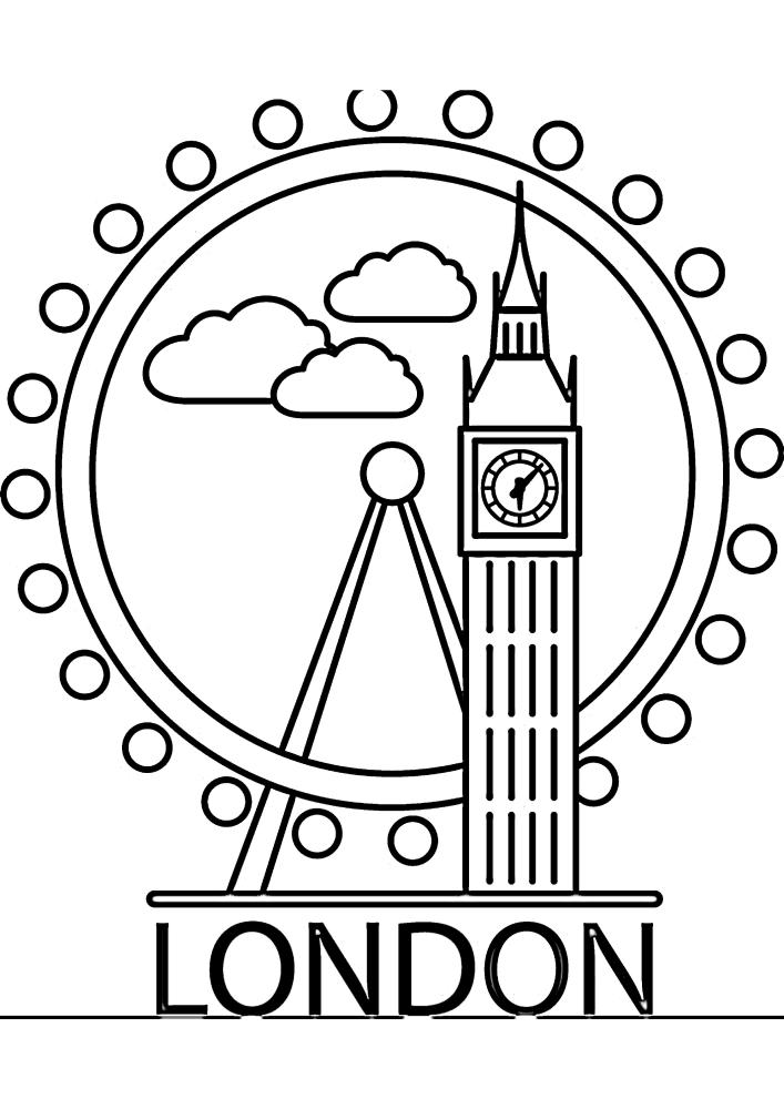 Лондон - раскраска для детей
