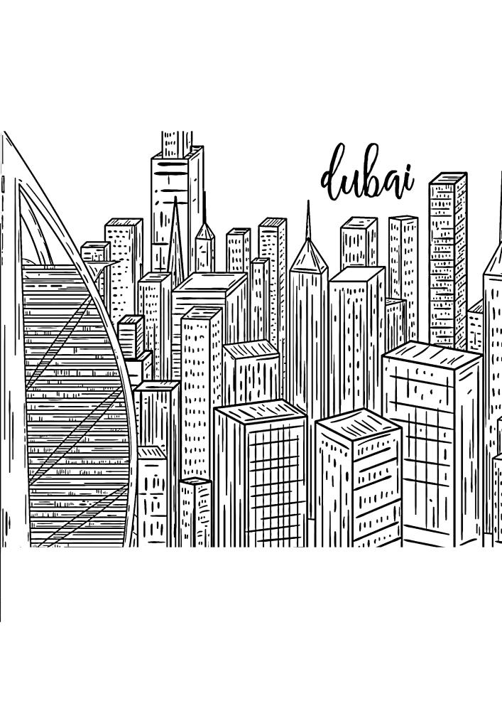 Дубай - вид с высоты