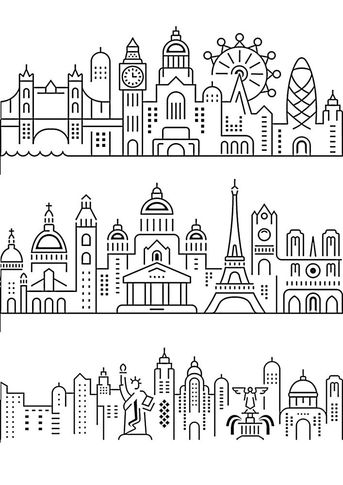 Лондон, Париж и Нью-Йорк