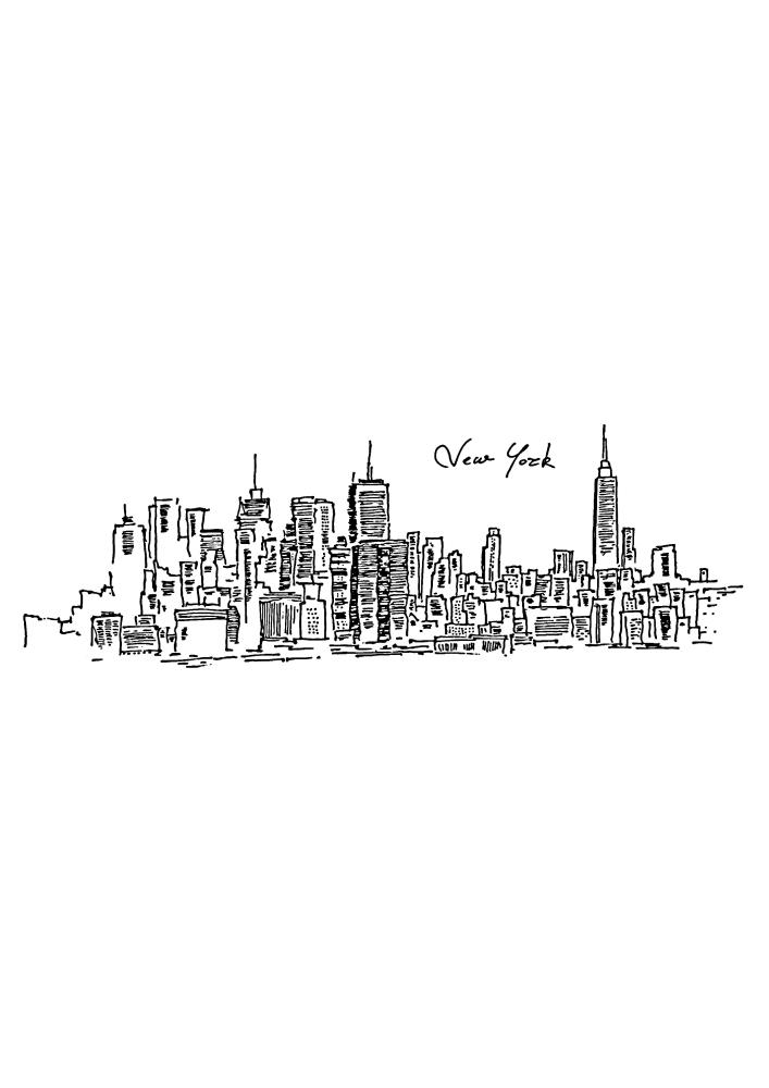 Нью-Йорк - чёрно-белое изображение