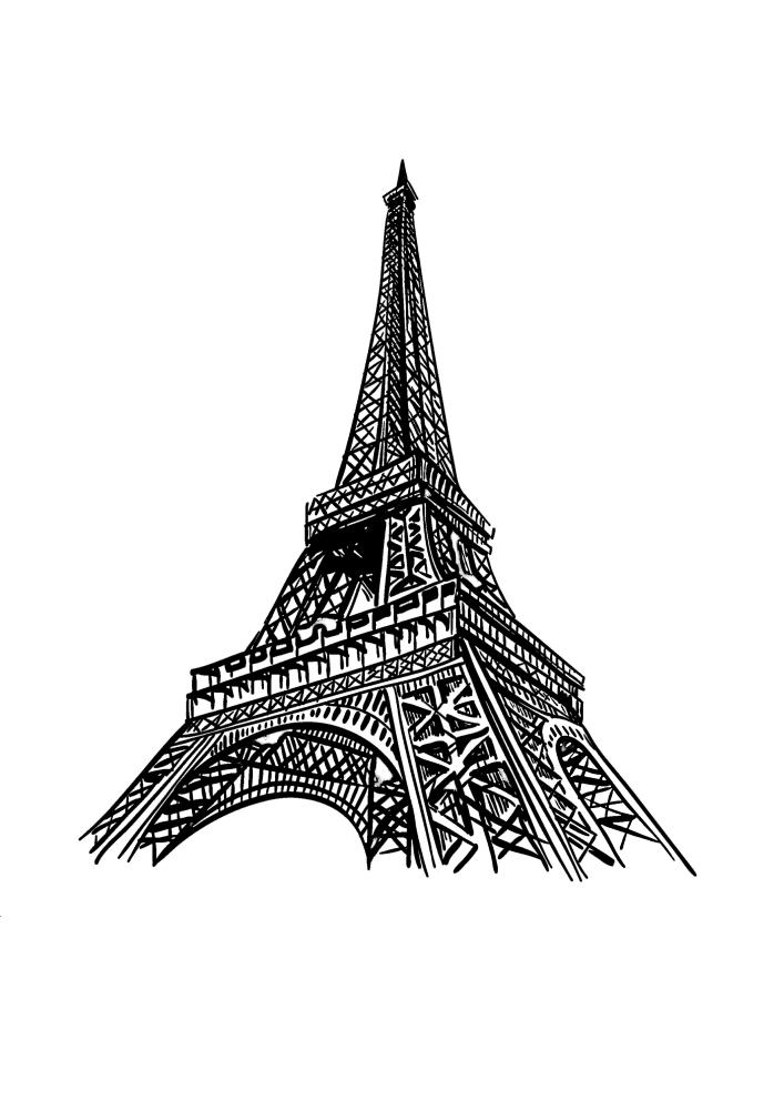 Вид на Эйфелеву башню снизу