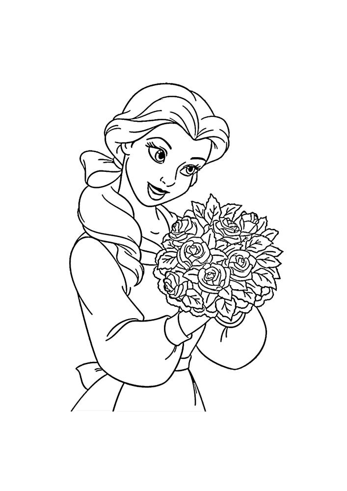 Белль получила в подарок букет шикарных цветов