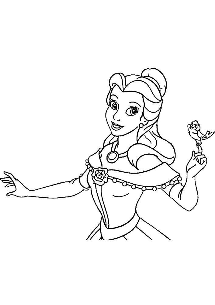 Птенчик сел на пальчик принцессы