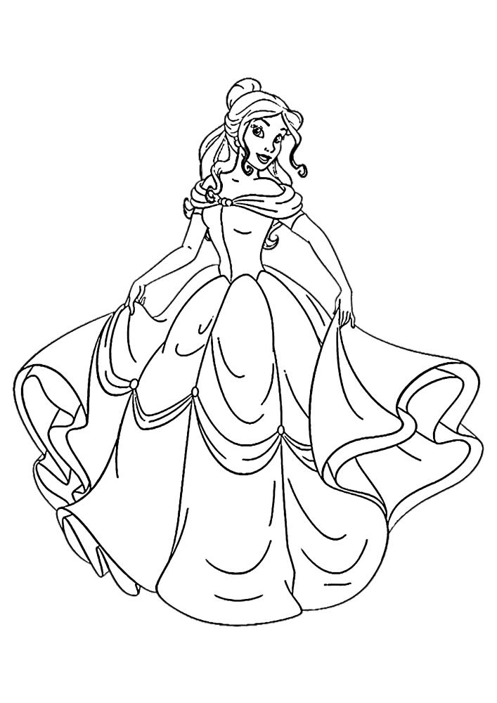 Добрая принцесса - раскраска для девочек